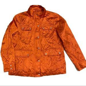 Michael Kors Designer Orange Metallic Light Bomber